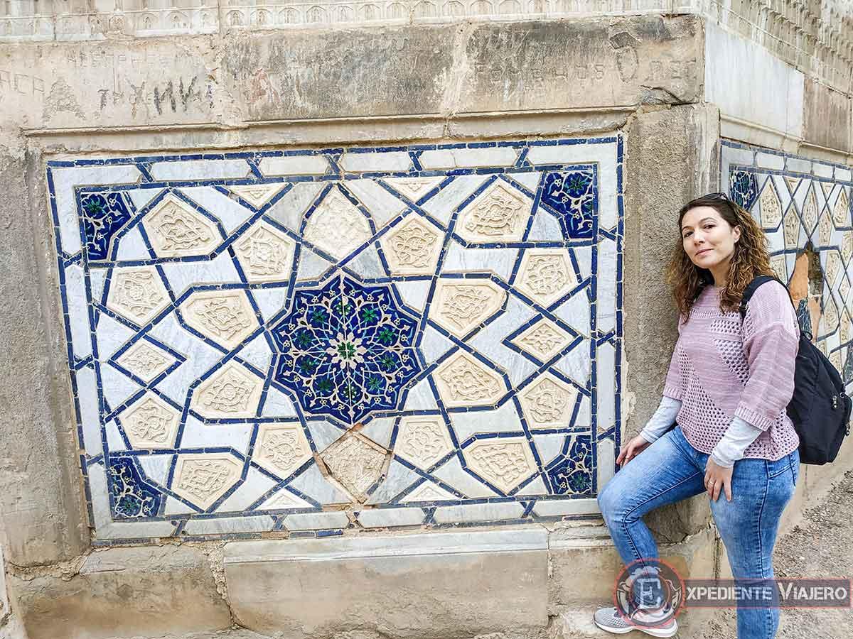 Mosaico en Bibi-Khanum
