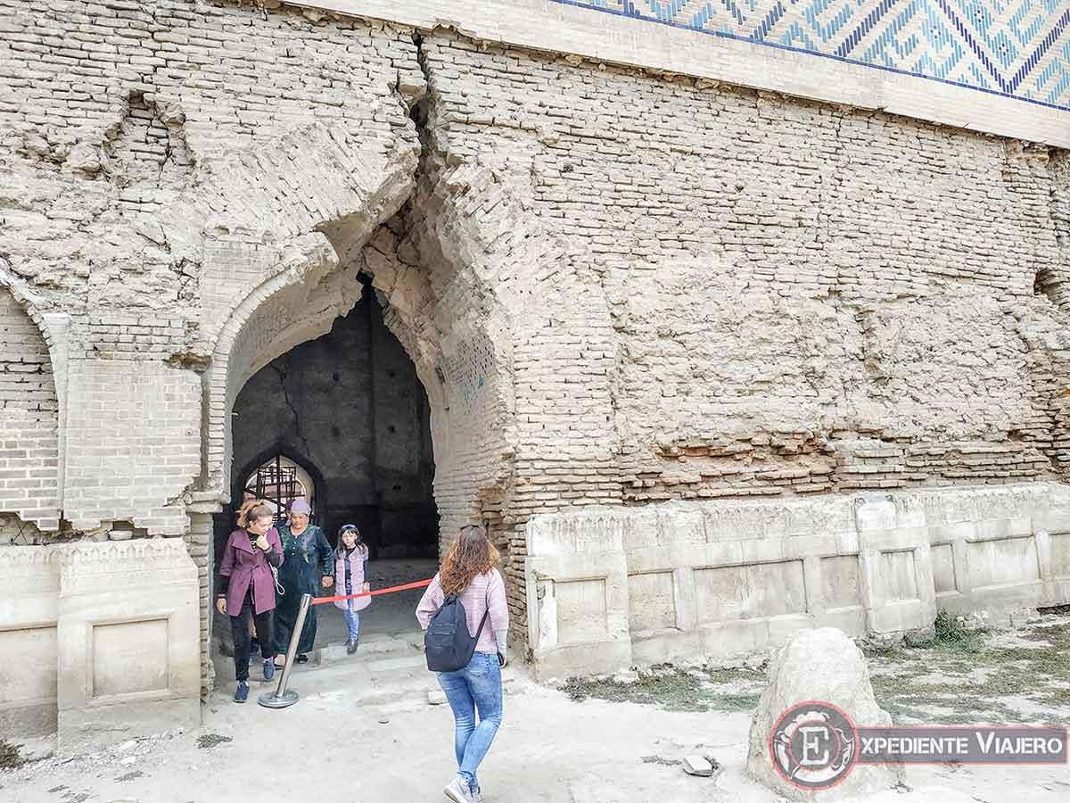 Entrando a la Gran mezquita