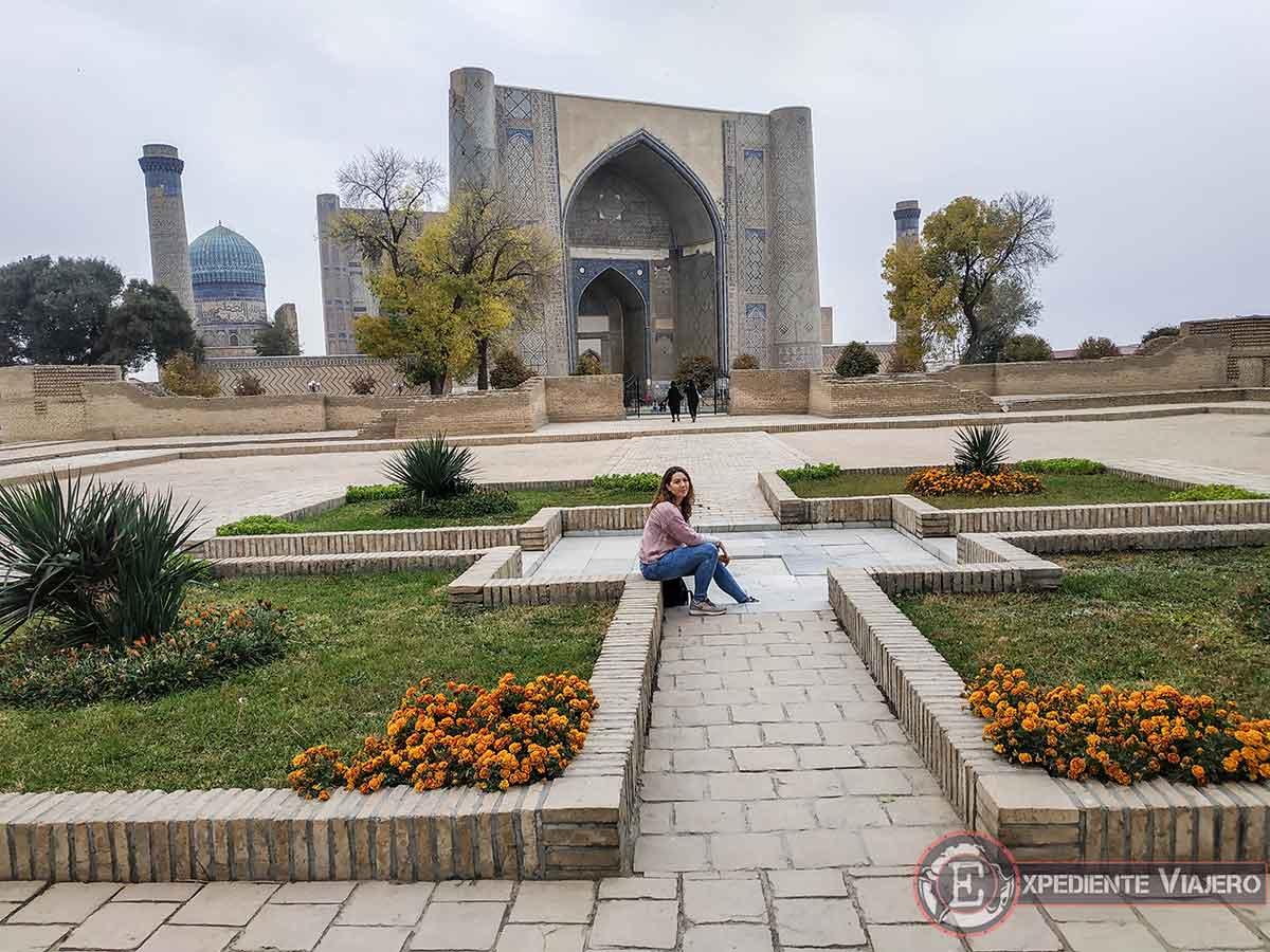 Vistas desde el mausoleo Bibi-Khanum