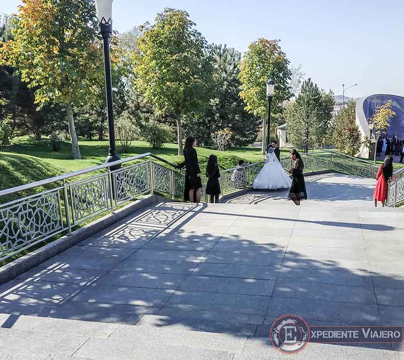 Fotos de boda en el observatorio de Ulugh Beg