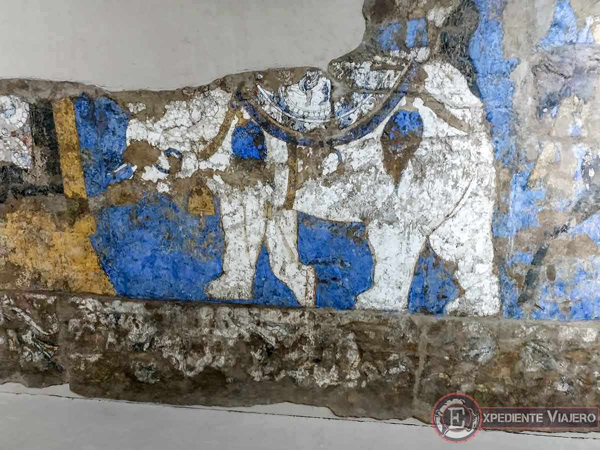 Frescos en el museo Afrosiab
