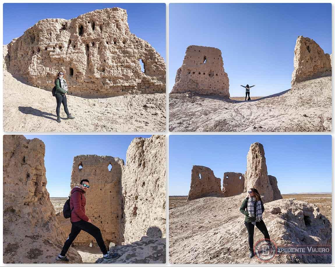 Restos de la muralla Kirk.Kiz-Kala