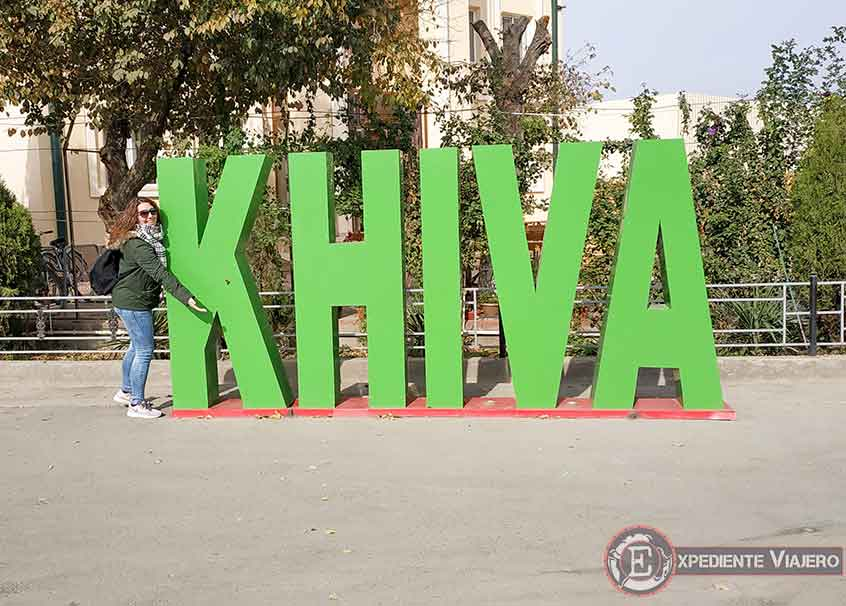 Letras con el nombre de Jiva (Khiva)