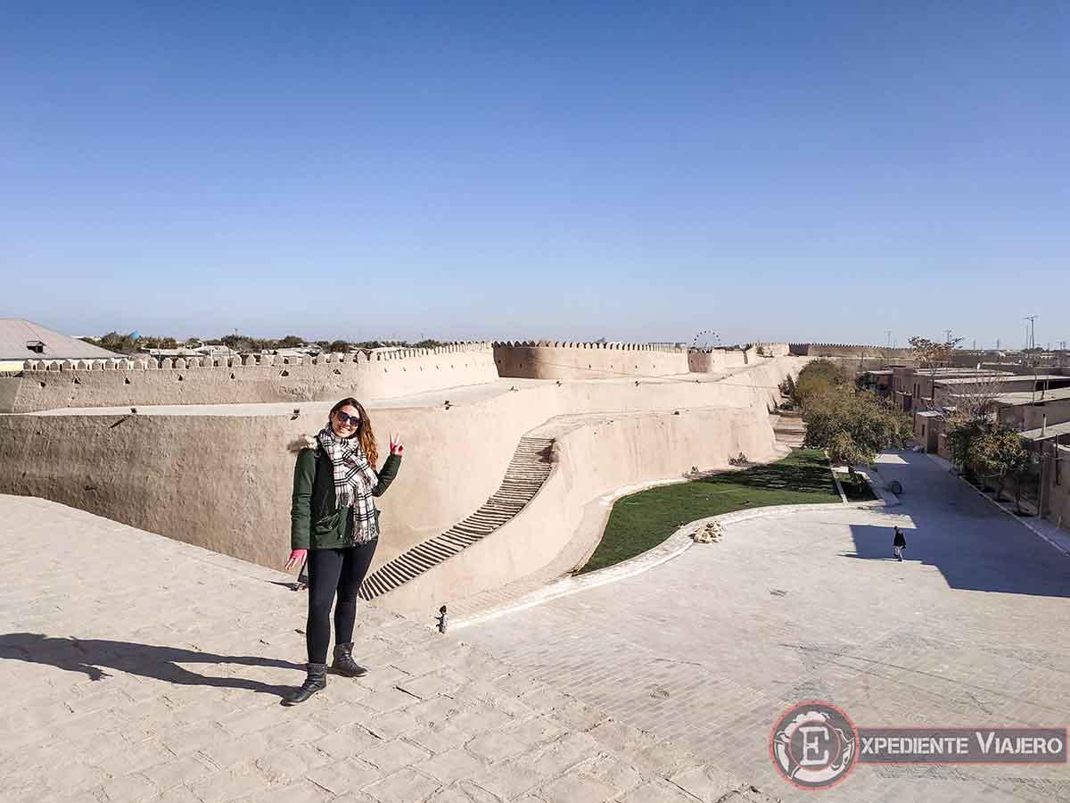 Subir a las murallas de Jiva