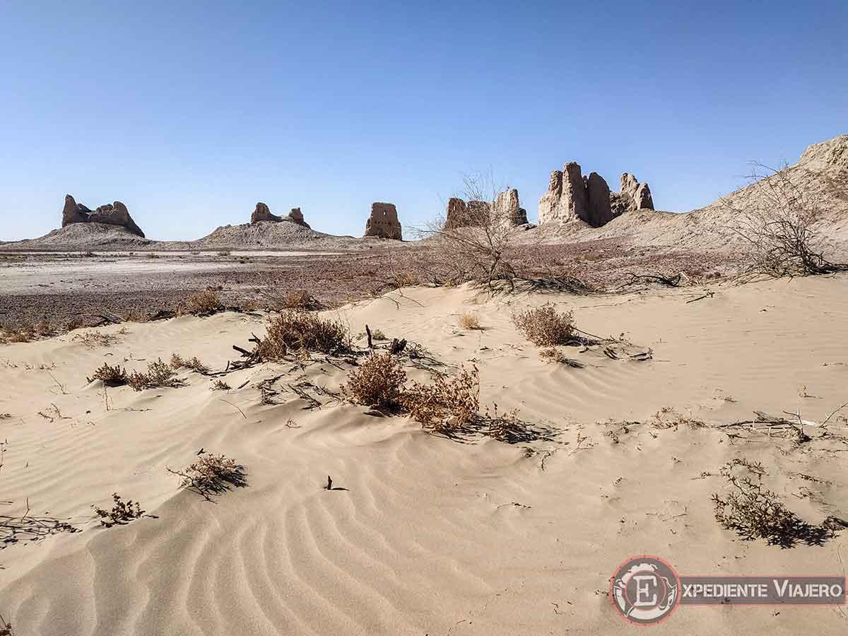 Fortalezas del desierto de Uzbekistán: Kirk-Kiz-Kala