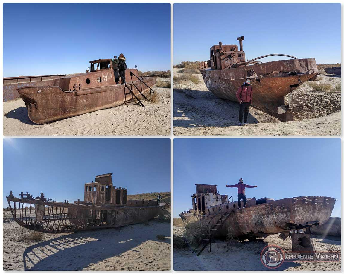 Subir a los barcos fantasma de Moynaq