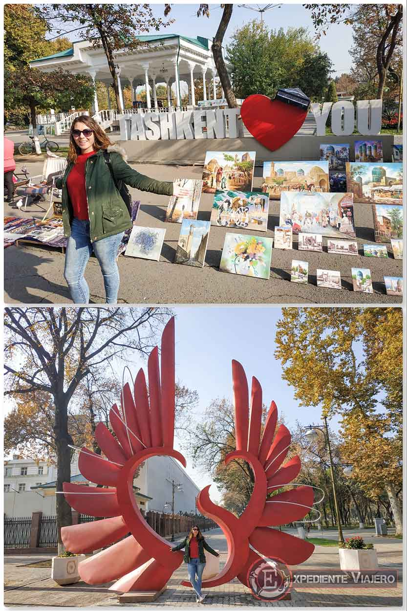 Puestos callejeros y corazones de Tashkent