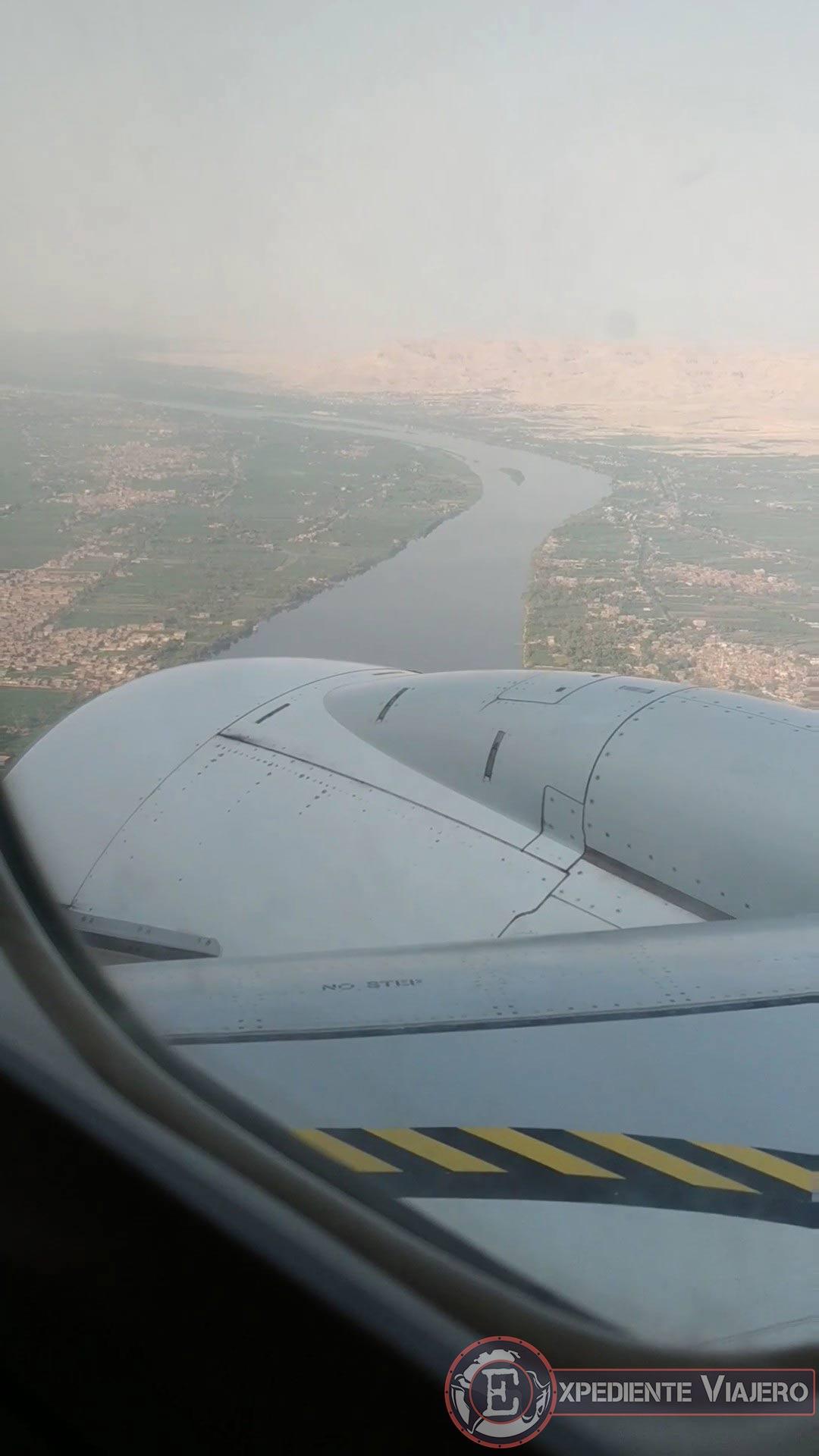 Río Nilo en el vuelo a Luxor