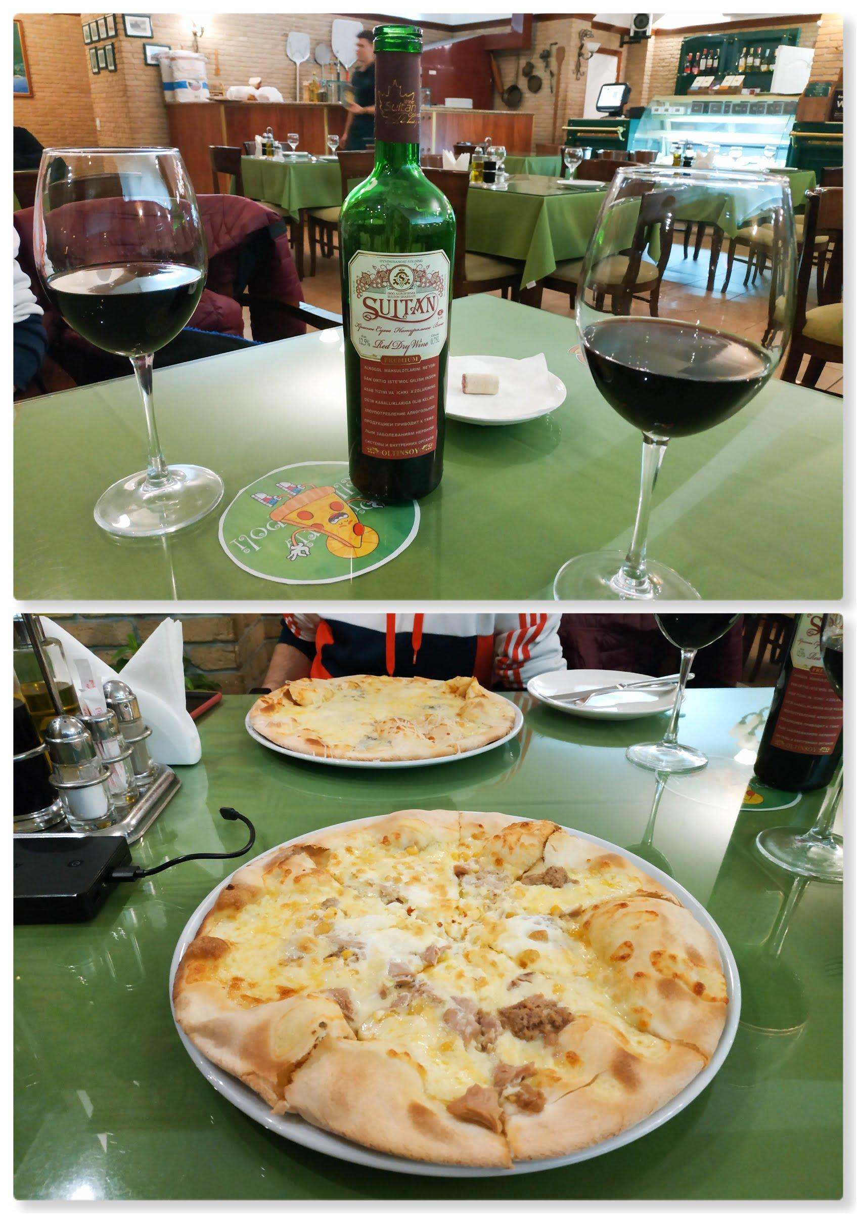 Cenar en la Bella Napolli de Tashkent