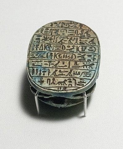 Escarabajo conmemorativo de Amenhotep III