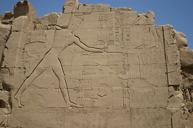 Representación de Tutmosis III en el Templo de Karnak