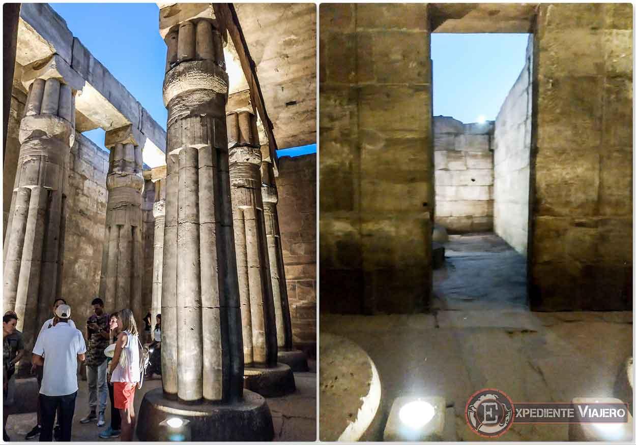 Recorriendo el santuario del templo de Luxor