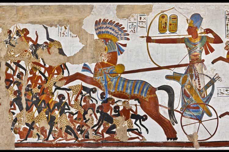 Batalla de los egipcios contra los nubios
