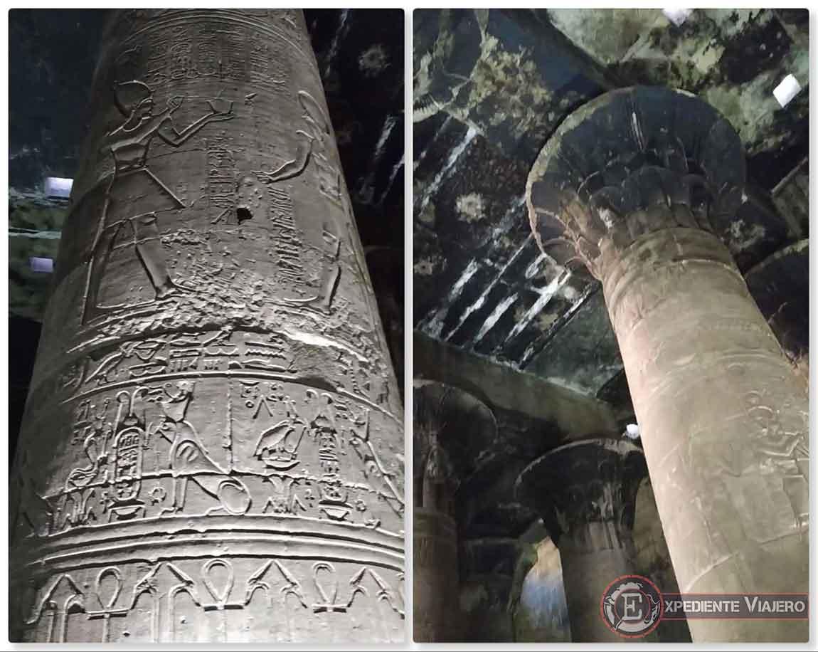 Techo negro en el Templo de Horus