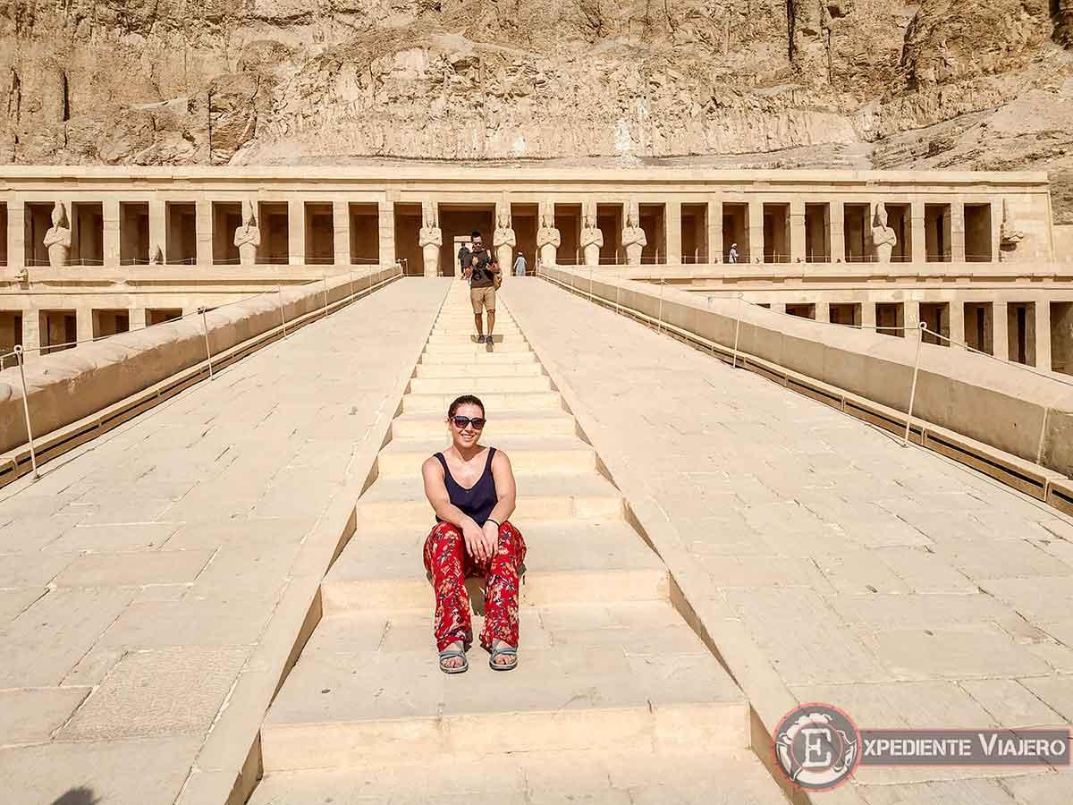 Rampa de subida al Templo de Hatshepsut