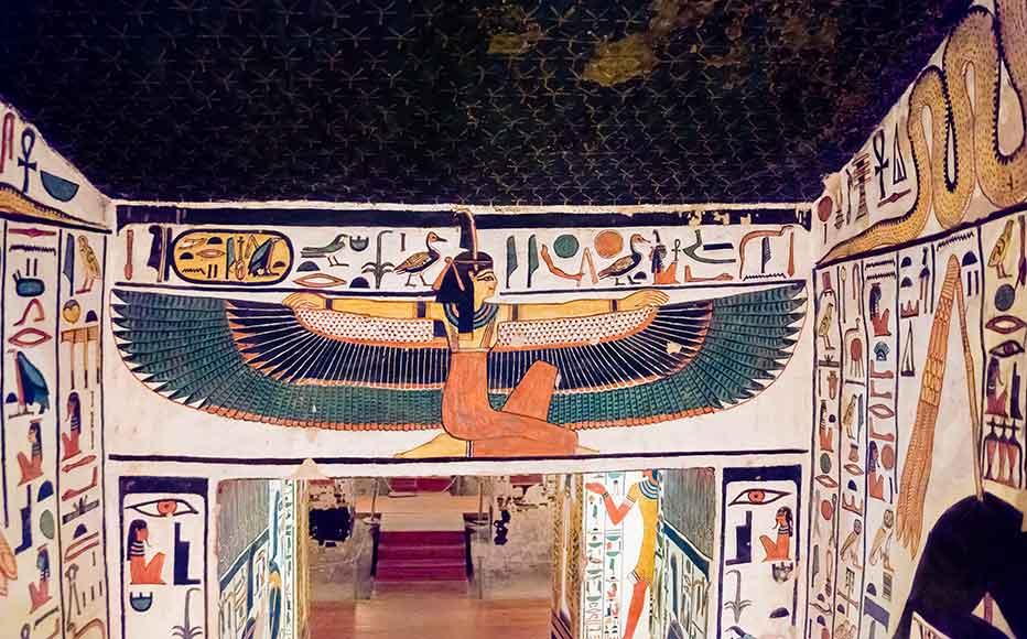 Pinturas en la tumba de Nefertari