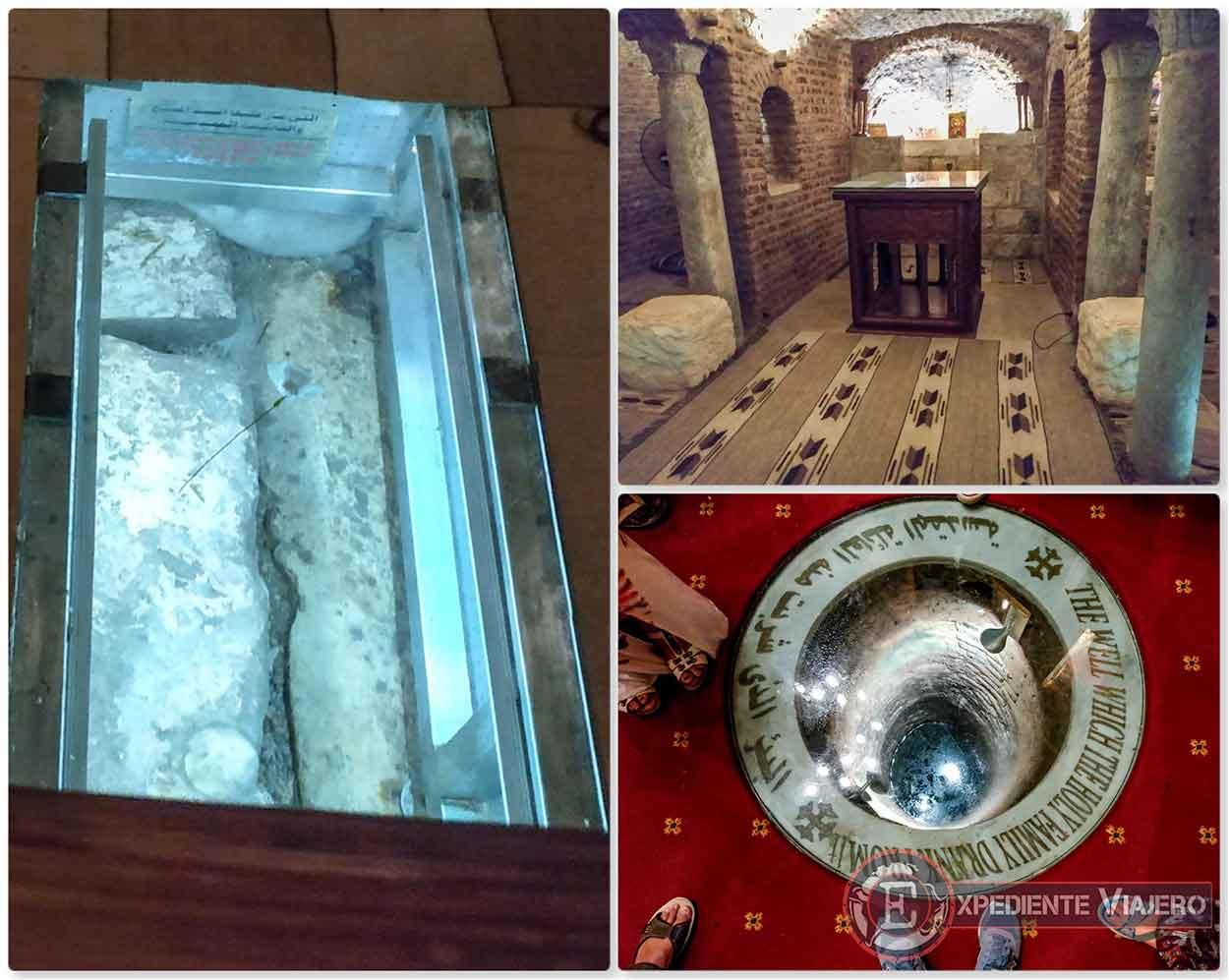 Capilla, piedras y pozo de la Iglesia de San Sergio y Baco