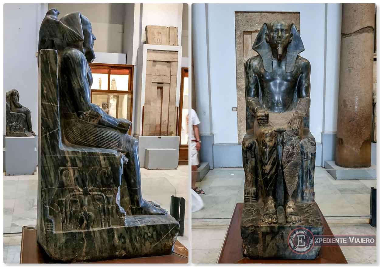 Estatua de Kefrén en el Museo de El Cairo