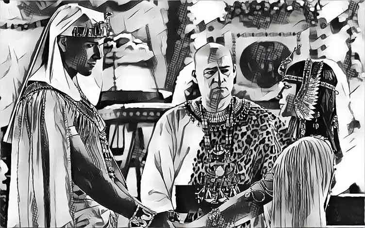 Nefertari se casa con Ramsés II