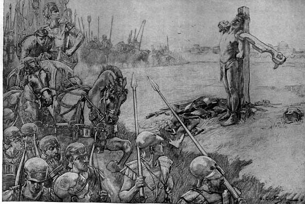 Alejandro Magno castiga y mata a Bessos
