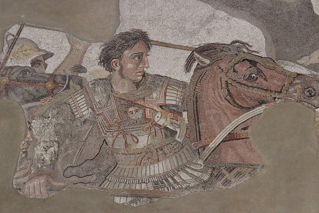 Alejandro Magno luchando