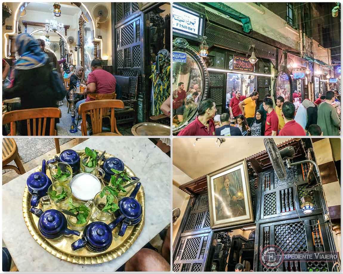 Cafe Fishawi (Café de los Espejos) en El Cairo