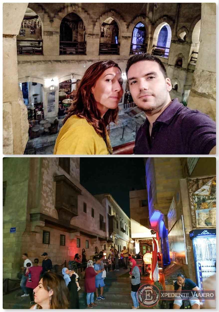 Centro comercial y calles del centro de El Cairo