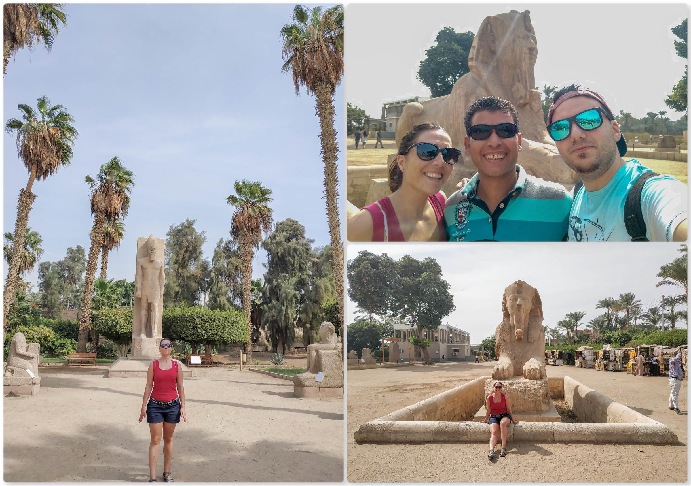 Esfinge de Alabastro y estatua de Ramsés II
