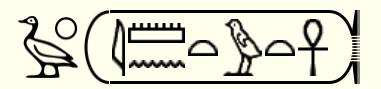 Jeroglífico de Tutankamón