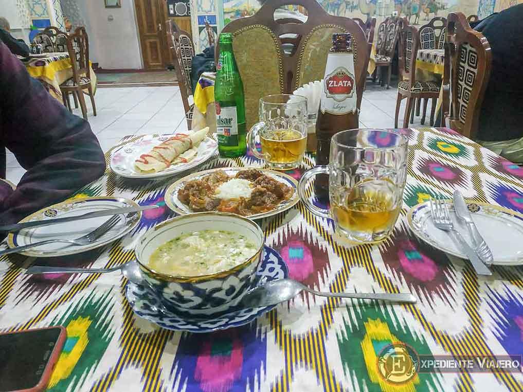 Presupuesto de la comida en Kazajistán y Uzbekistán
