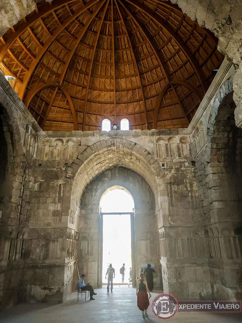 Bóveda de madera del Palacio Omeya de Ammán