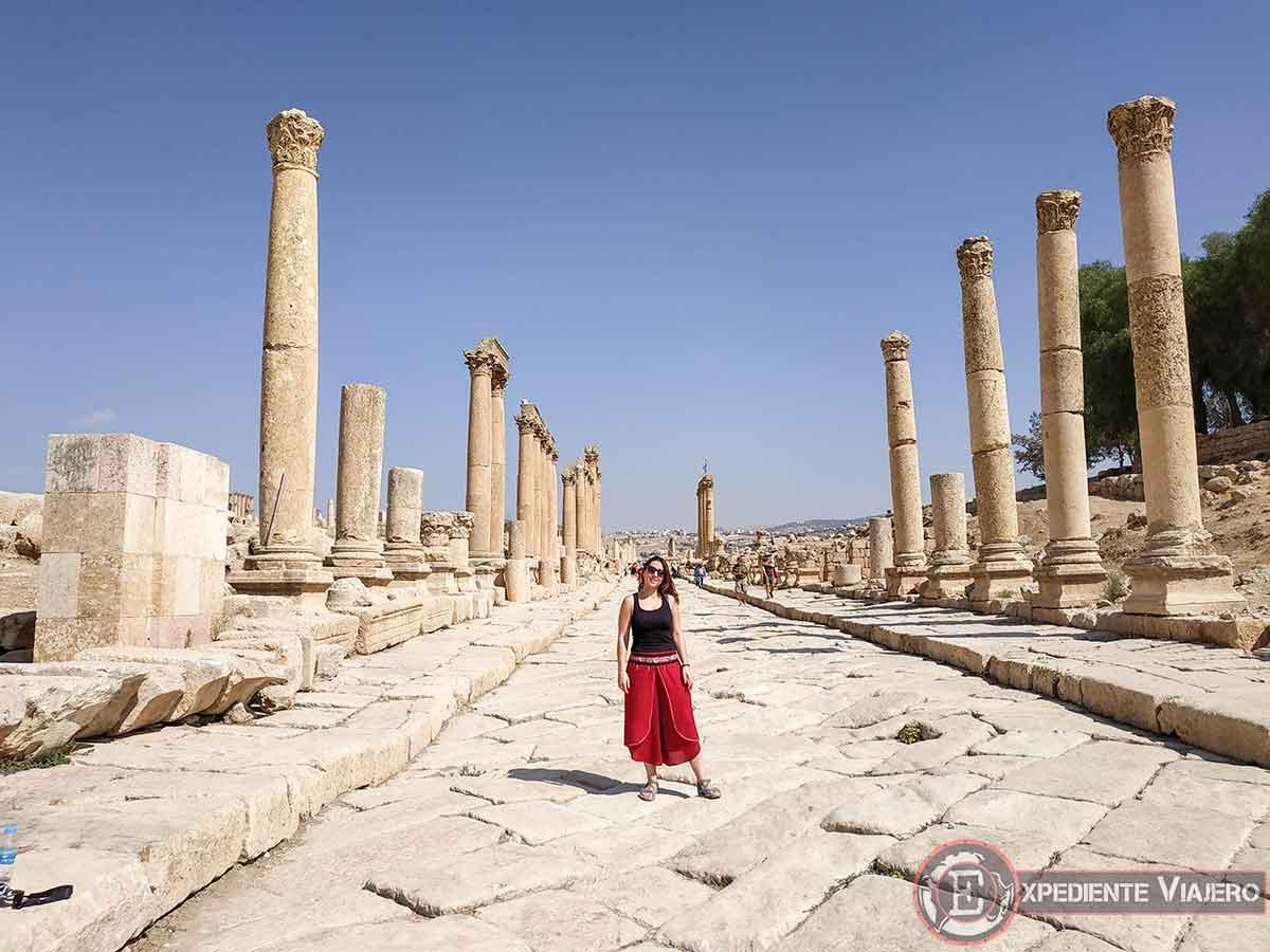 Calle principal de Jerash (Cardo Maximus)
