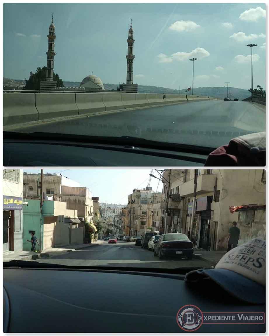 Camino de vuelta a Ammán desde Jerash