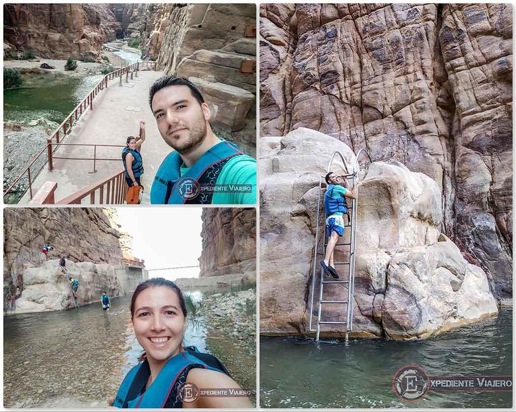 Comienzo del Siq Trail en Wadi Mujib