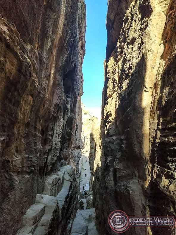 Desfiladero final de Little Petra