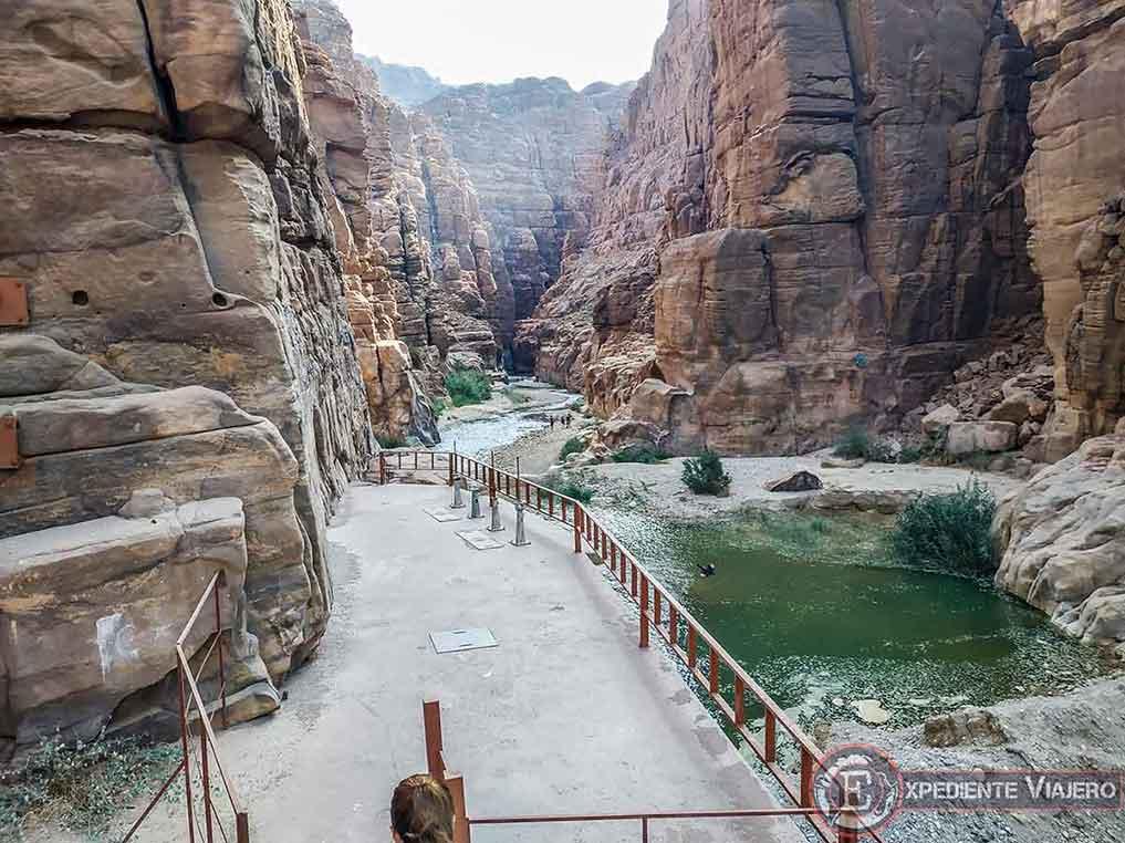 Hacer barranquismo en Wadi Mujib