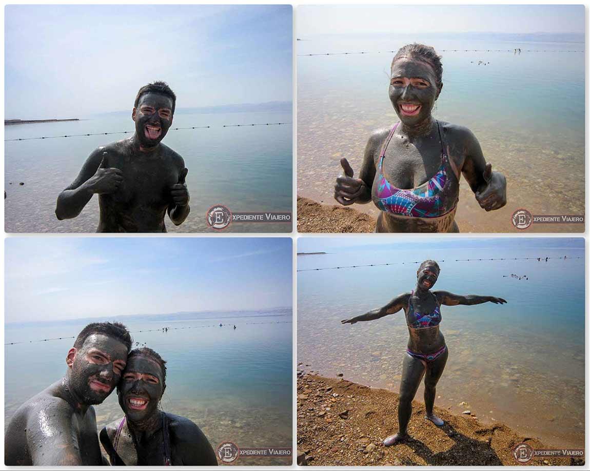 Ponerse los barros del Mar Muerto