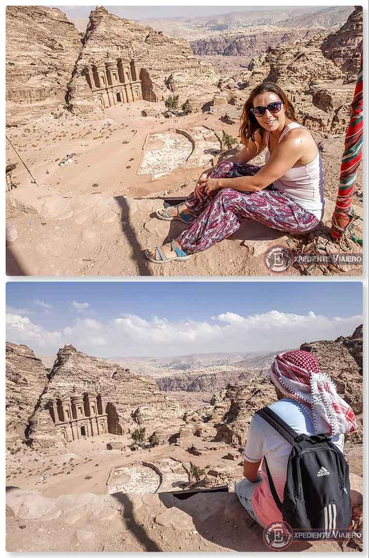 Las mejores vistas del mundo en el Monasterio de Petra