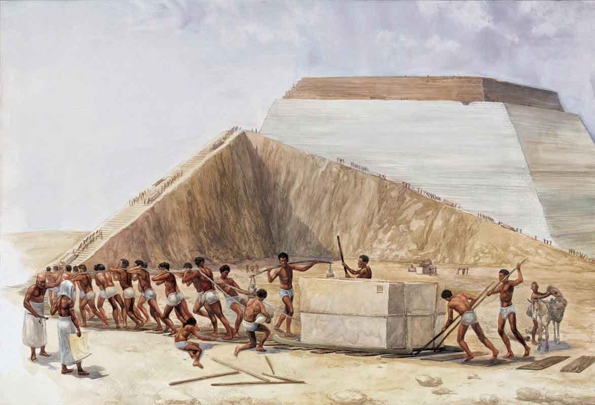 Obreros de la pirámide de Keops