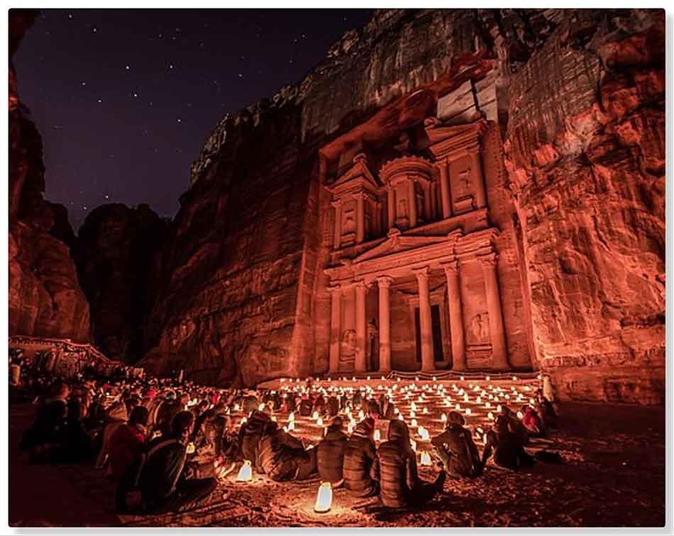 ¿Cómo hacer fotos nocturnas de Petra?