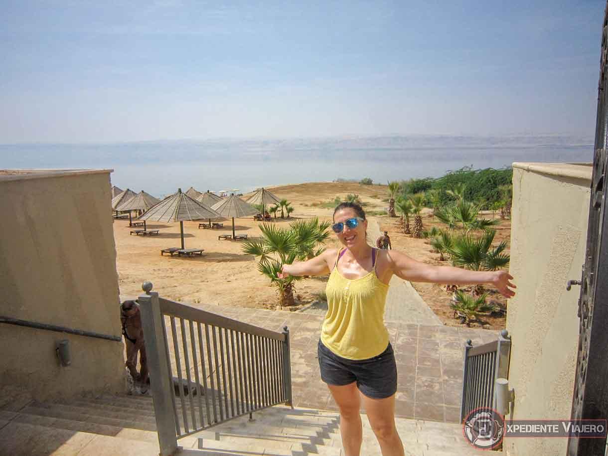 Playa privada del hotel en el Mar Muerto