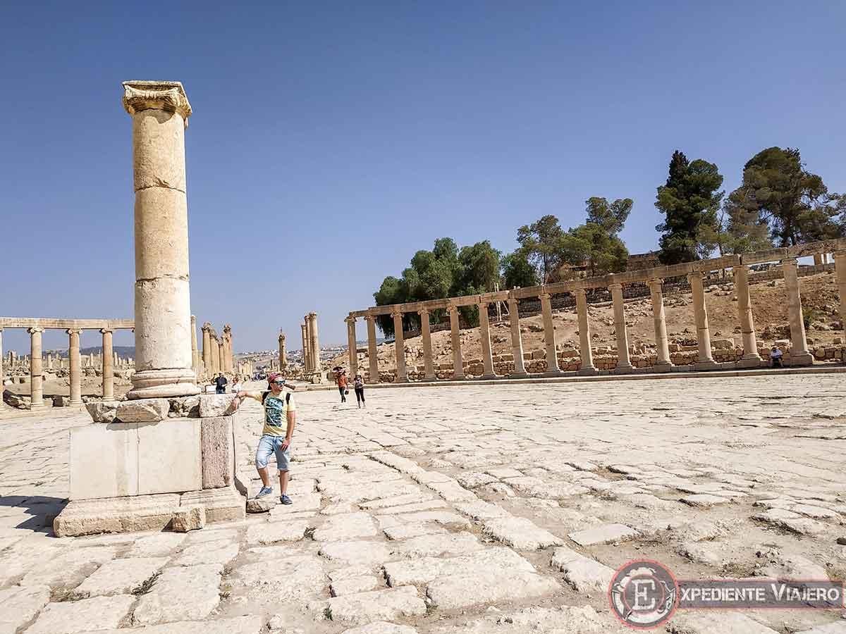 La Plaza Oval de Jerash