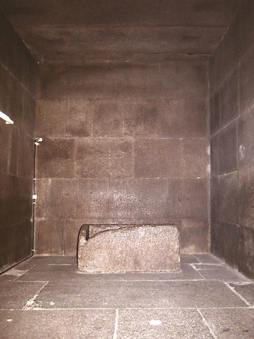 Sarcófago de la Cámara del Rey, en la Gran Pirámide de Keops