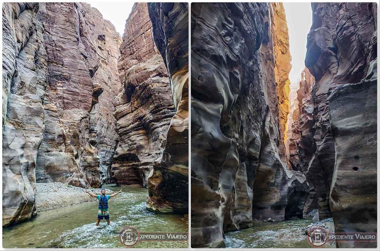 Las paredes del Siq Trail de Wadi Mujib