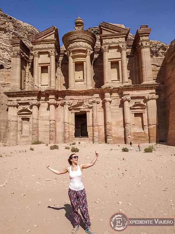 Subidón en el Monasterio de Petra