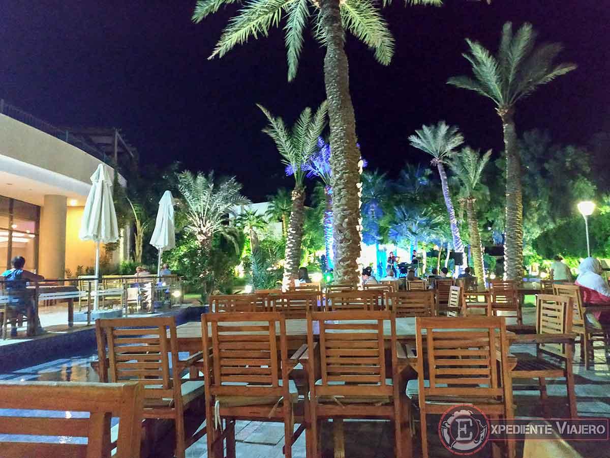 Terraza del Dead Sea Spa Hotel en Jordania