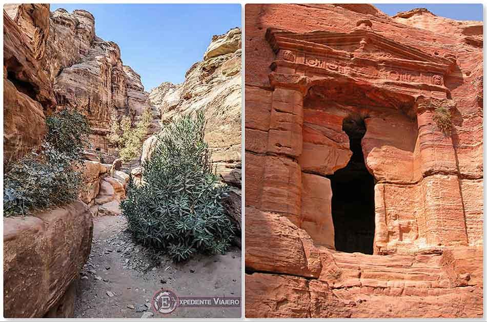 Triclinio del León en la subida al Monasterio de Petra