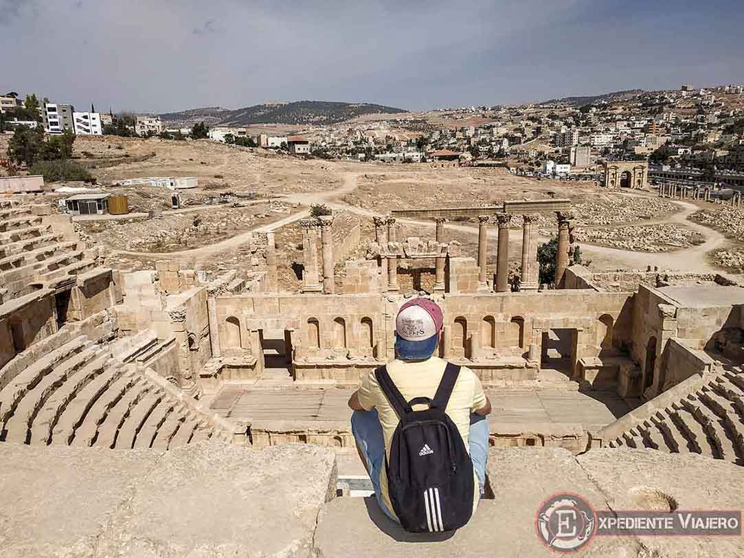 Vistas de Jerash desde el Teatro Norte