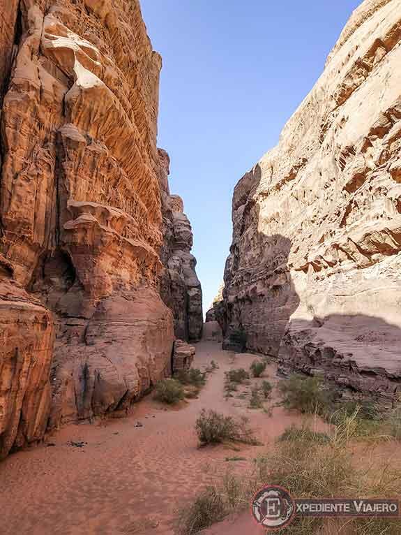 Qué hacer en el desierto de Wadi Rum: Abu Khashaba Canyon
