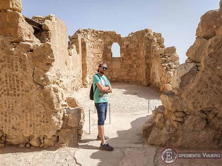 Iglesia bizantina al visitar la fortaleza de Masada en Israel